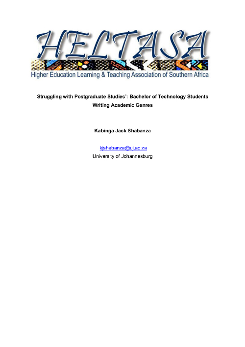 Struggling with Postgraduate Studies