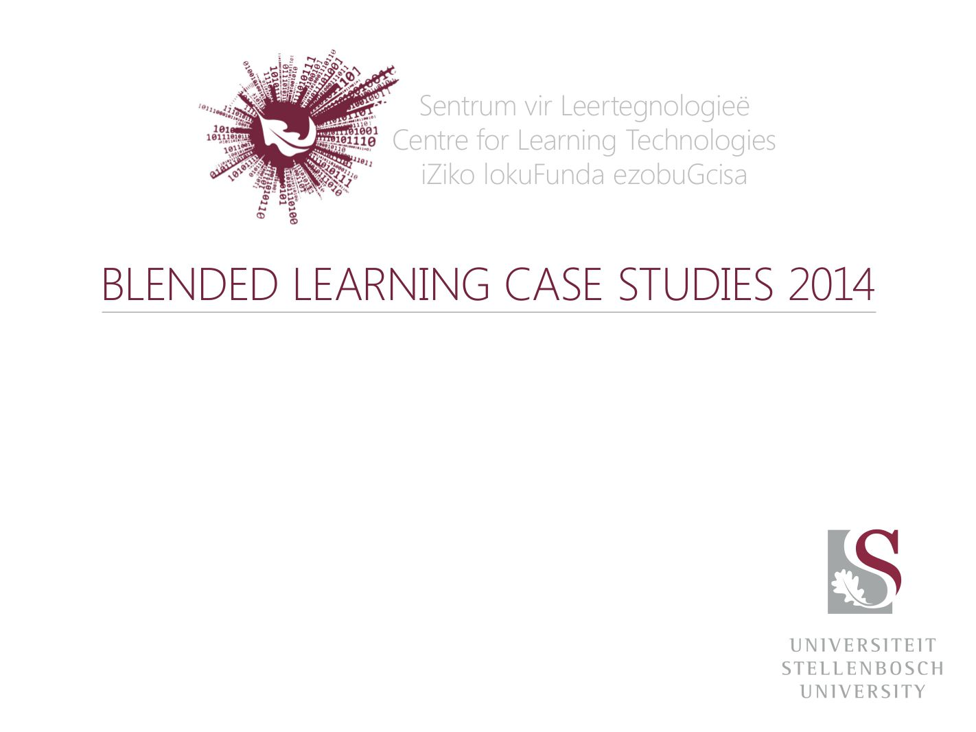 blended learning case studies 2014 SU HELTASA PDSIG