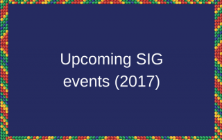 upcoming SIG events