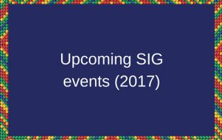 upcoming SIG events