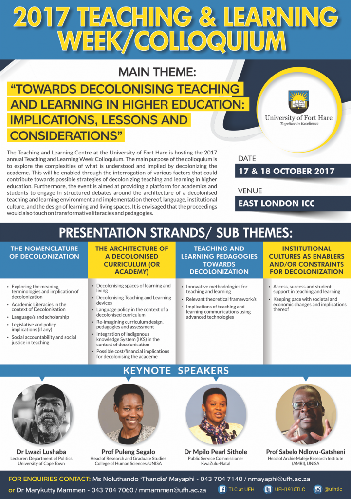 teaching and learning week call for abstracts