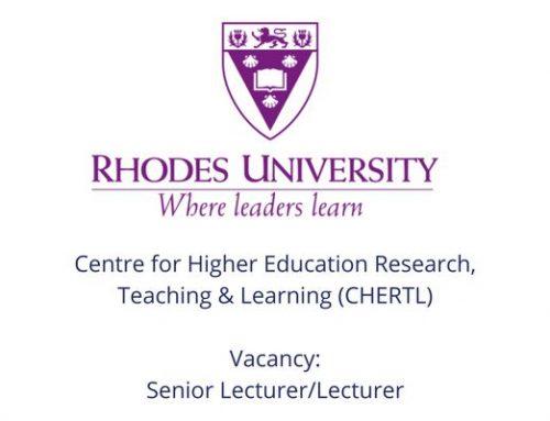 Vacancy: Senior Lecturer / Lecturer (CHERTL)