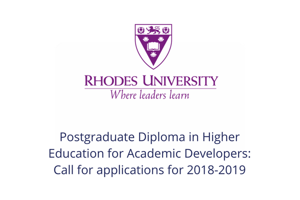 Postgraduate Diploma in Higher Education for Academic Developers: call for applications for 2018-2019 HELTASA