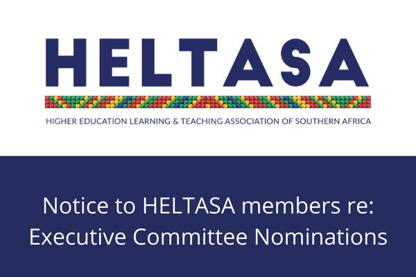 Notice to HELTASA members re Executive Committee Nominations