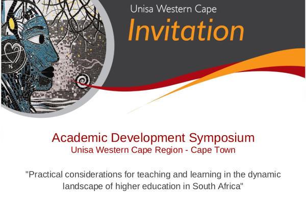 Symposium Unisa_Academic Development Symposium_Invitation HELTASA