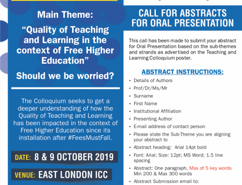 2019 Teaching and Learning Colloquium – UFH