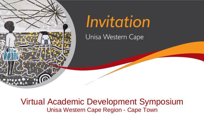 2020 Western Cape Adacemic Development Symposium Invitation