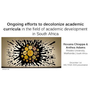 Ongoing efforts to decolonize academic curricula_V3