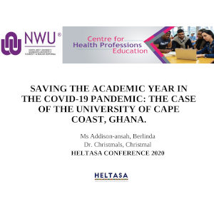 Presentation_SAVING THE ACADEMIC CALENDER IN THE COVID-19 PANDEMIC