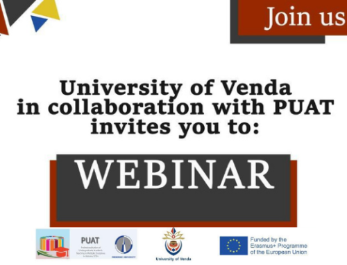 Attend a webinar hosted by the University of Venda and the PUAT project
